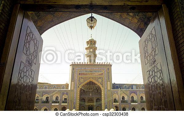 The shrine of Imam Ali al-Rida - csp32303438
