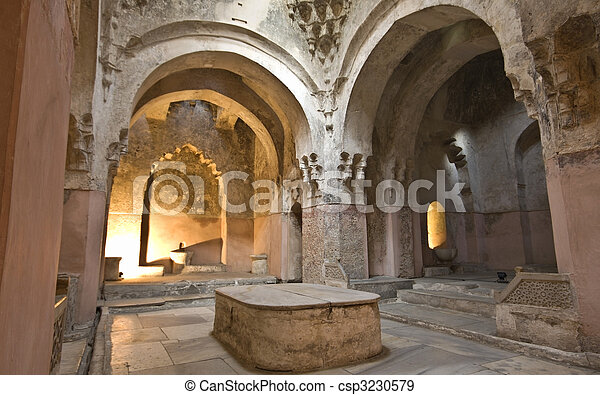 Bey hamam bath historic building at Thessaloniki city in Greece - csp3230579