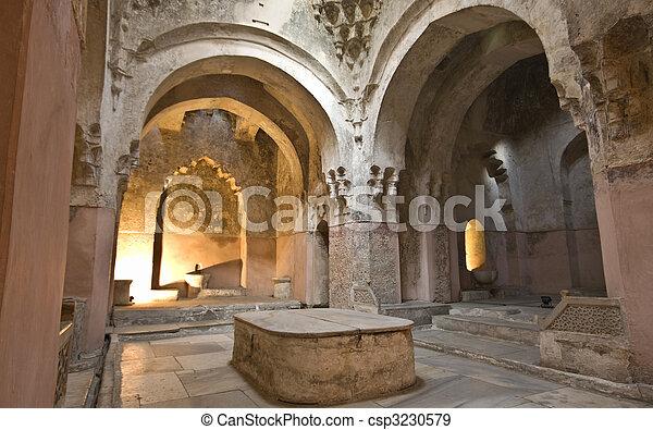 Bey hamam bath historic building at Thessaloniki city in Greece - csp3230579