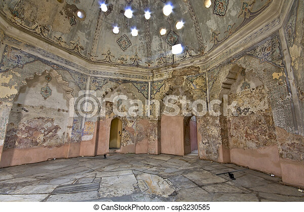 Bey hamam bath historic building at Thessaloniki city in Greece - csp3230585