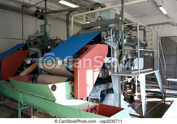Machinery for the production of potato starch