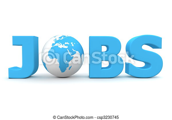 Jobs World Blue - csp3230745