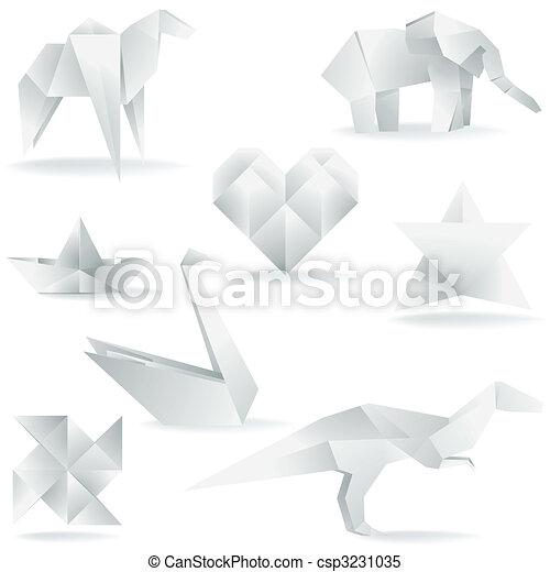 Various Origami Creations - csp3231035