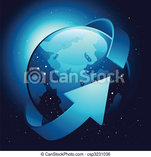 Earth with Wrapping Arrow - csp3231036