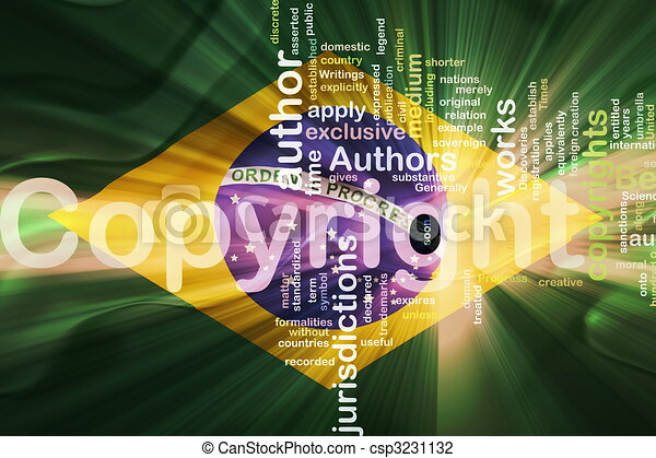 Flag of Brazil wavy copyright law - csp3231132