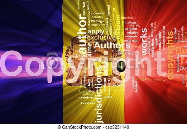 Flag of Andorra wavy copyright law - csp3231140