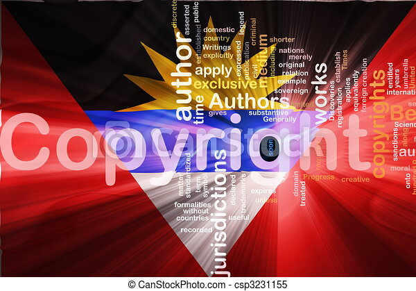 Flag of Antigua wavy copyright law - csp3231155