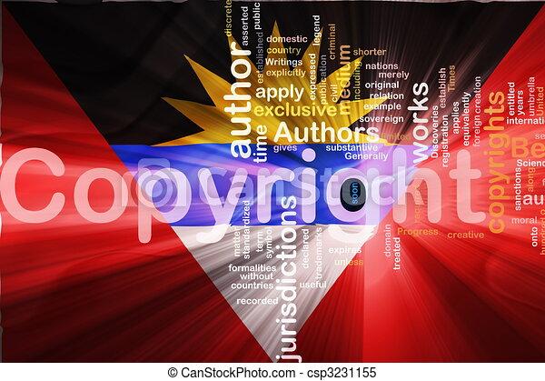 Flag of Antigua wavy copyright law - csp3231155