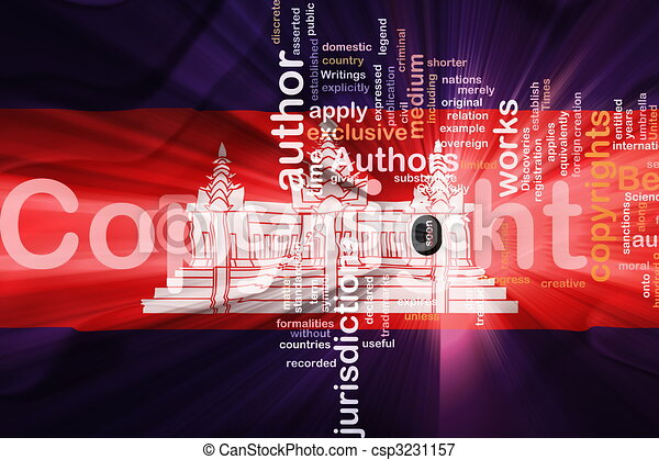 Cambodia flag wavy copyright law - csp3231157
