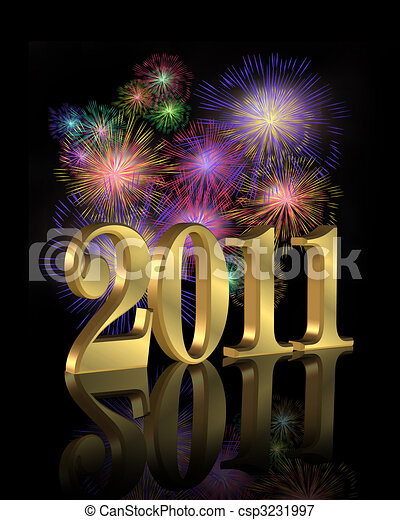 New Year 2011 fireworks - csp3231997