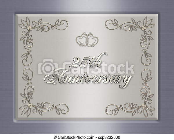 25th Wedding Anniversary invitation - csp3232000