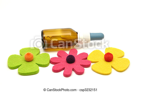 Bach flower remedies and felt decoration - csp3232151