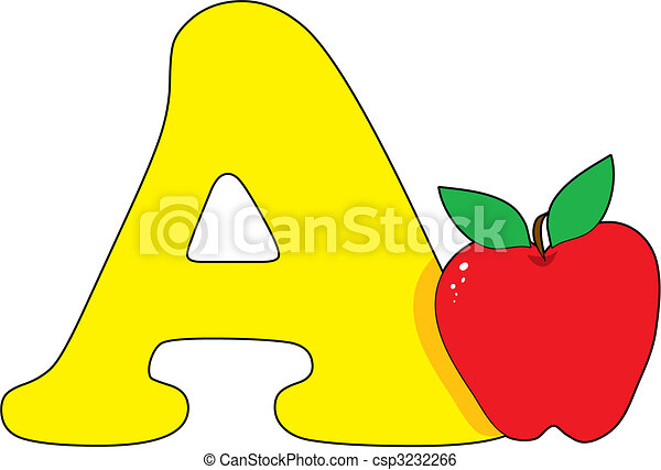 clip art vector of letter a with an apple csp3232266 Google Maps Bus Clip Art Health Care Workers Clip Art