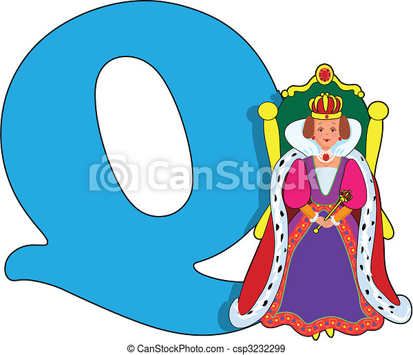 Letter Q with a Queen - csp3232299