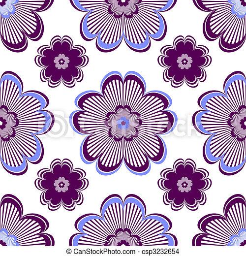 Seamless floral vivid violet pattern - csp3232654