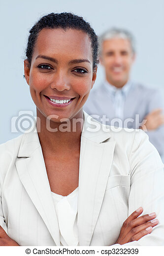 Charismatic business partners standing  - csp3232939