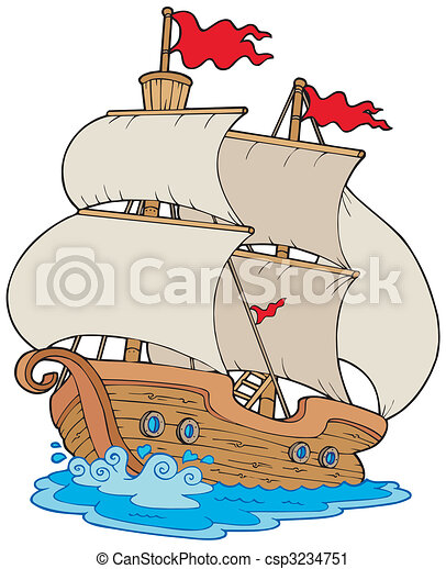 Old sailboat - csp3234751