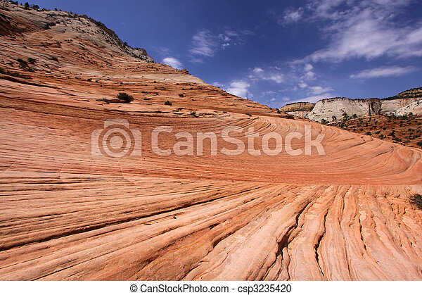 Rock formations in Zion national park - csp3235420