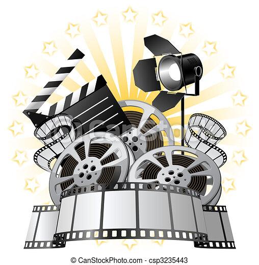 Film Premiere poster  - csp3235443