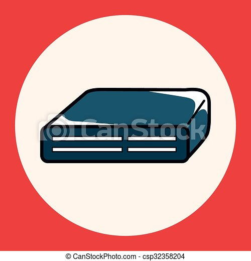 Vector Clipart of Computer-related equipment CD-ROM drive theme ...