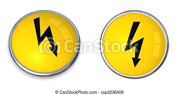 Button Electricity Symbol - csp3236408