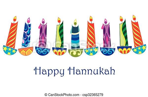 Happy Hanukkah - csp32365279