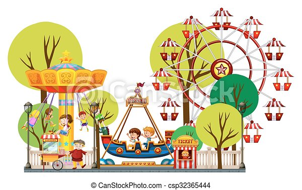 EPS Vector of Children...