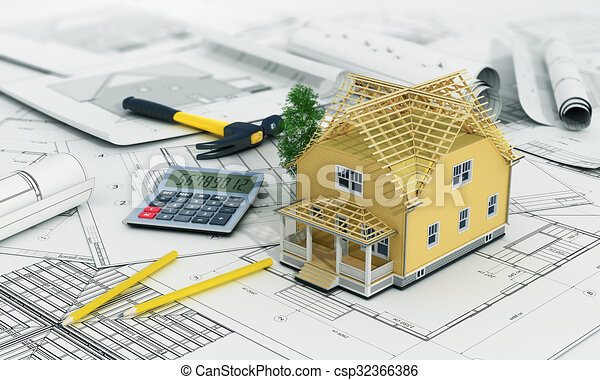 Stock Illustration Of Concept Of Construction And Architect Design