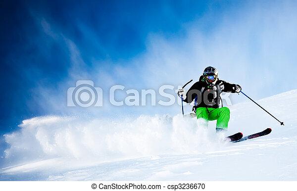 Man's skiing - csp3236670