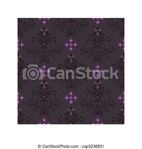 Vector clip art van roze bruine behang seamless seamless bruine en roze csp3236831 - Graham en bruine behang ...