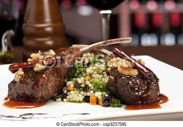 Gourmet Lamb Chops - csp3237595
