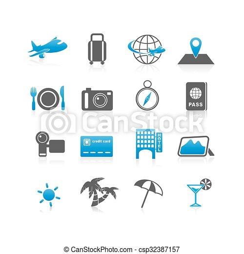Travel icon set - csp32387157