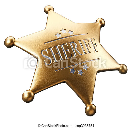 Sheriff's badge - csp3238754