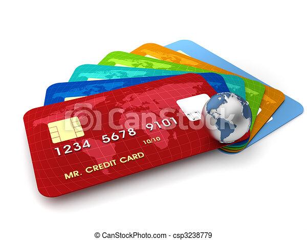 Credit cards - csp3238779
