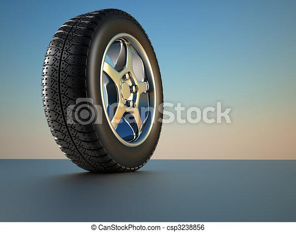 Car wheel tire - csp3238856