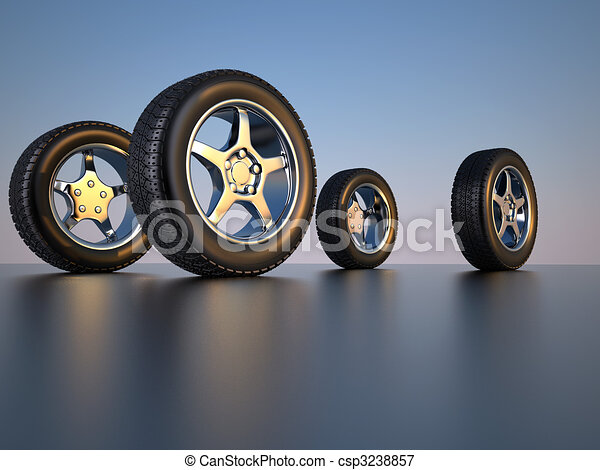 Car wheel tire - csp3238857