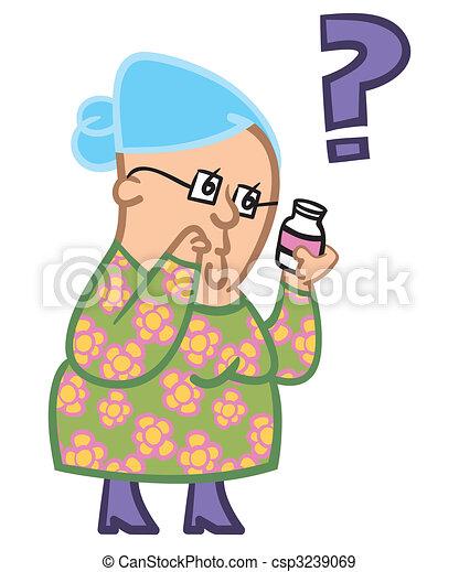 Senior lady confused - csp3239069