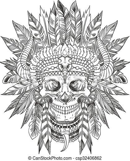 clip art vector of indian chief skull skull of native indian chief cartoon clipart indian chief cartoon clipart