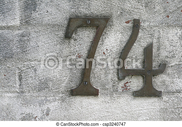 number seventy four for home address - csp3240747