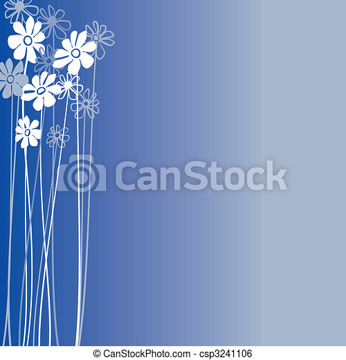 Creative design with flowers on a blue background - csp3241106