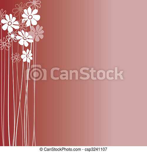 Creative design with flowers on a burgundy background - csp3241107