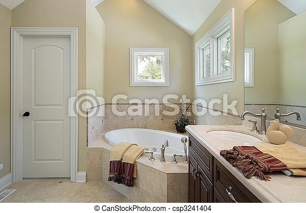 Master bath with tub design area - csp3241404