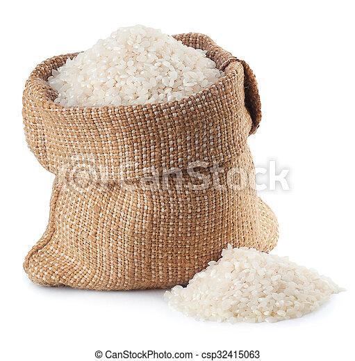 stock de fotos bolsa arroz arpillera