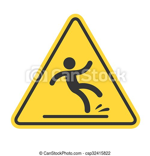 Wet Floor Sign - csp32415822