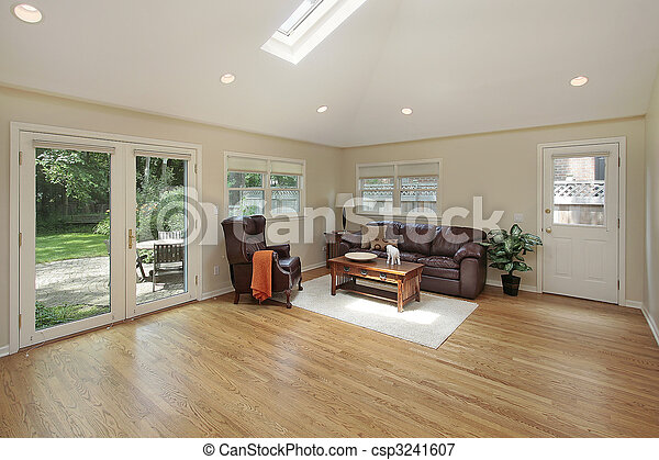 Family room with skylight - csp3241607