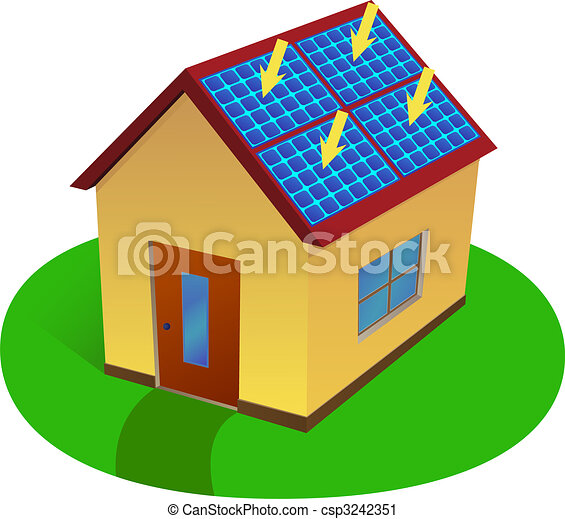 solar energy house - csp3242351