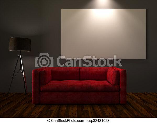 Modern interior room - csp32431083