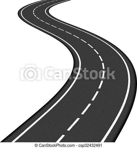 Vecteurs eps de route black asphaltez route blanc - Dessin de route ...