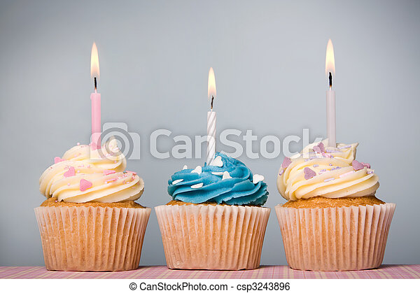 Birthday cupcakes - csp3243896