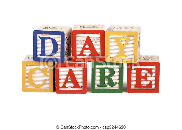 Daycare - alphabet blocks isolated - csp3244630